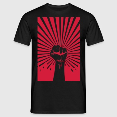 Revolution fist - Männer T-Shirt