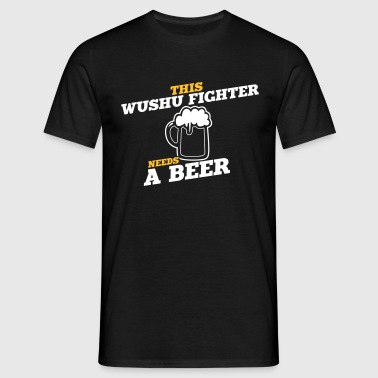 this wushu fighter needs a beer - Camiseta hombre