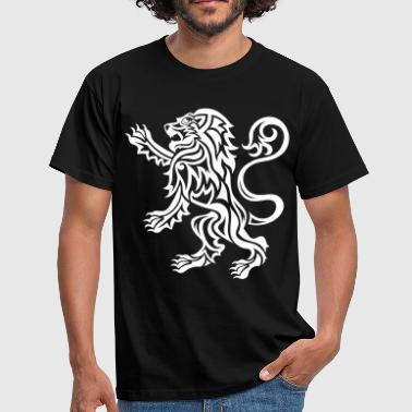 Tribal Scottish Lion Rampant - Men's T-Shirt