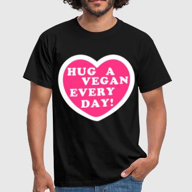 Vegan Hugs Hug a Vegan Every Day! - Men's T-Shirt