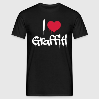 i love graffiti - Men's T-Shirt