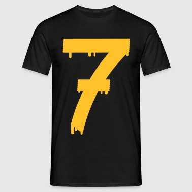lucky number seven - Herre-T-shirt