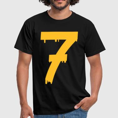 lucky number seven - T-skjorte for menn