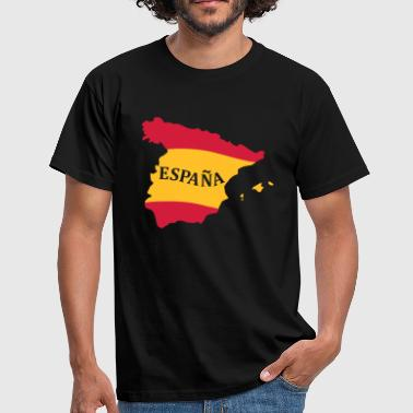 Karte Spanien, Spain, Map, Flag Map Spain - Camiseta hombre