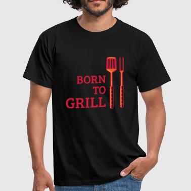 Born To Grill (Besteck) - Männer T-Shirt