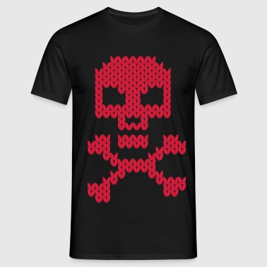 knitting skull and bones - Männer T-Shirt