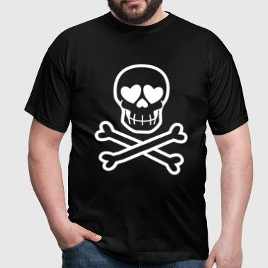Eros & Thanatos Skull and Crossbones by Cheerful Madness!! online shop - Men's T-Shirt