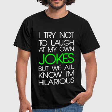 Lesbian Jokes - Men's T-Shirt