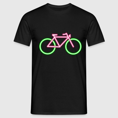 A bicycle made ​​of neon tubes - Men's T-Shirt
