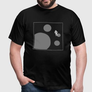 astronaut planets space spaceman - Mannen T-shirt