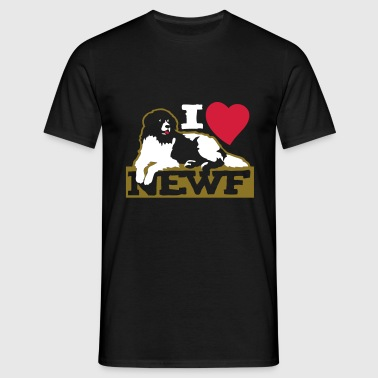 i_love_newfoundland__newf__black_white__ - Men's T-Shirt