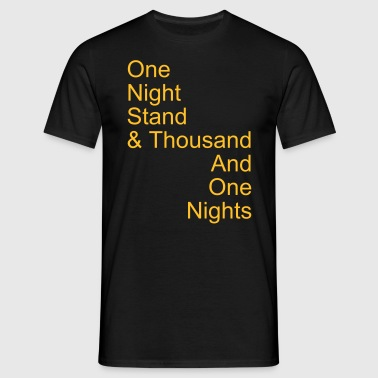 one night stand - T-skjorte for menn