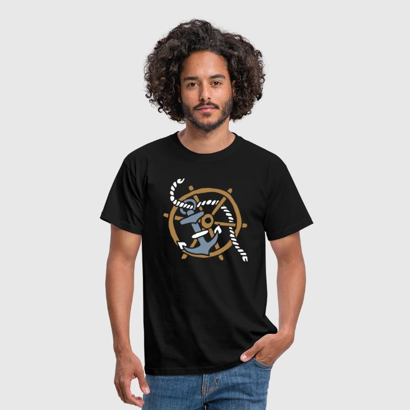 Anker Seemann Anchor Sailor Tattoo Oldschool SOS - Camiseta hombre