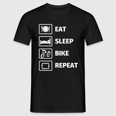 EAT SLEEP BIKE REPEAT - Koszulka męska