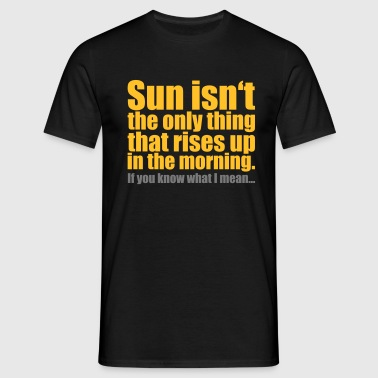 morning glory - Mannen T-shirt