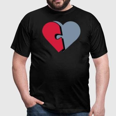 Puzzle Piece of Heart-01 - Men's T-Shirt