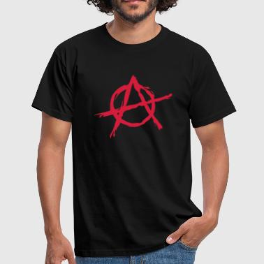 Anarchy symbol chaos rebel revolution punk fighter - Miesten t-paita