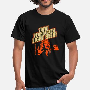 Vegan Tofu, Vegetables, Light Beer - Men's T-Shirt