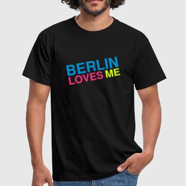 Berlin loves me - T-skjorte for menn