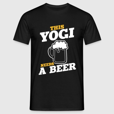 this yogi needs a beer - Men's T-Shirt