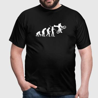 Evolution of Man - BMX - Men's T-Shirt
