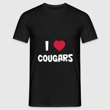 I Love Cougars - Men's T-Shirt