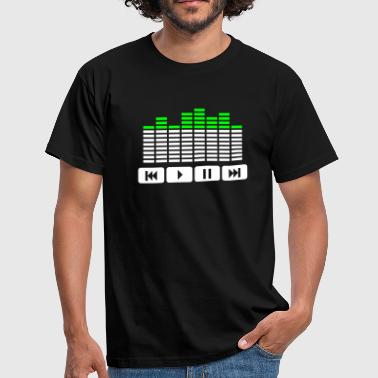 Equalizer audio player dj - T-shirt Homme