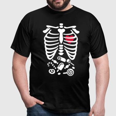 Halloween rayons X Costume bonbons - T-shirt Homme