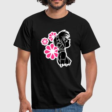 Black Music&Flowers Men's T-Shirts - Men's T-Shirt