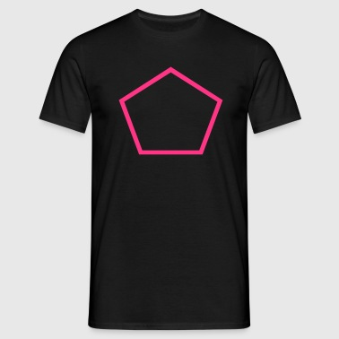 Pentagon Outline - Men's T-Shirt