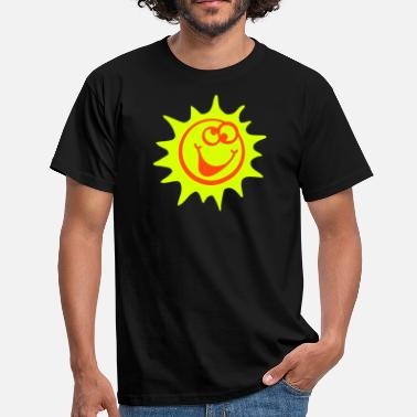 Strahlemaus sonne 2c comic style - Männer T-Shirt