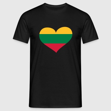 Lithuania heart - eushirt.com - EU - Men's T-Shirt