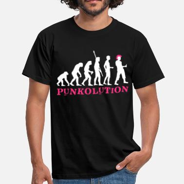 Destroy Punk evolution_punk_2c_b - Men's T-Shirt