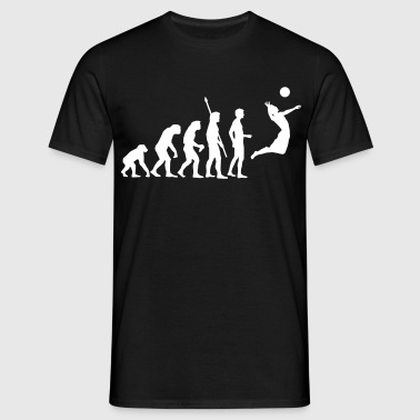 evolution_volleyball_1c - Men's T-Shirt