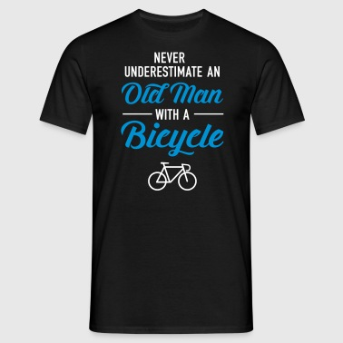 Old Man - Bicycle - Mannen T-shirt