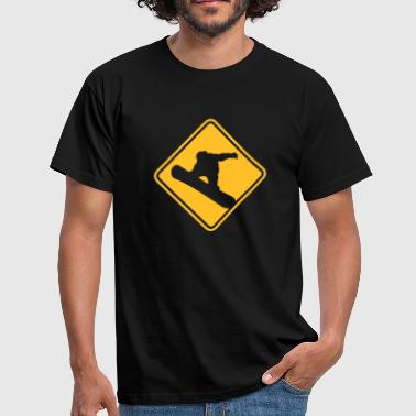 Freestyle Snowboard Roadsign - T-shirt Homme