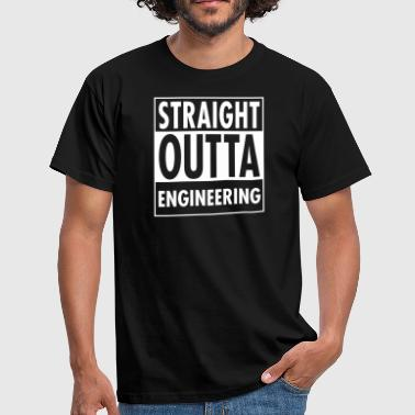 Straight Outta Engineering - T-shirt herr
