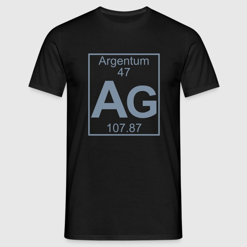 Periodic table element 47 - Ag (argentum) - BIG - Mannen T-shirt