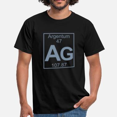 Argentum Argentum (Ag) (element 47) - Men's T-Shirt