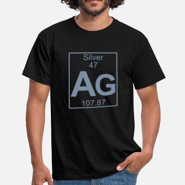 Silver Ag 47 Periodic table element 47 - Ag (silver) - BIG - T-shirt Homme