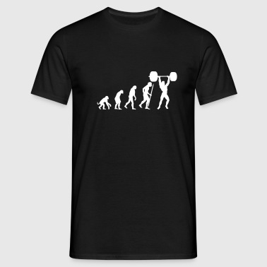 Evolution of power lifting - Männer T-Shirt