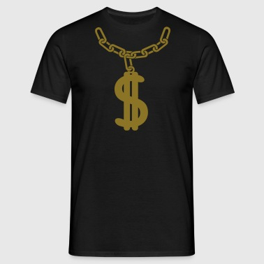 Dollar ketting - Mannen T-shirt