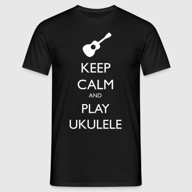 keep calm and play ukulele - T-shirt Homme
