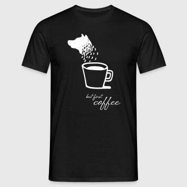 Dog and coffee - Männer T-Shirt