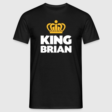 King brian name thing crown - Men's T-Shirt