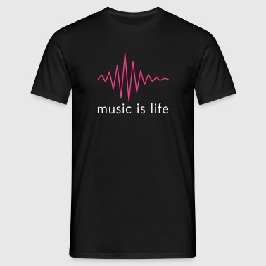 Music is life Pulse / Music is life soundwave - Mannen T-shirt