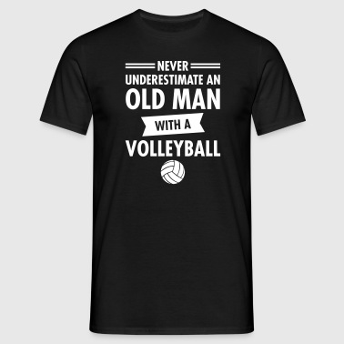Old Man - Volleyball - Men's T-Shirt