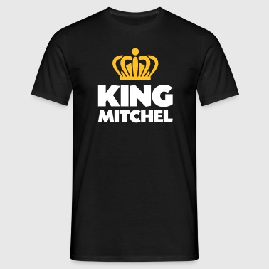 King mitchel name thing crown - Men's T-Shirt