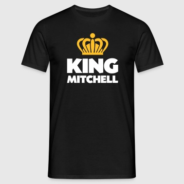 King mitchell name thing crown - Men's T-Shirt