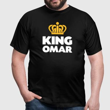 King omar name thing crown - Men's T-Shirt